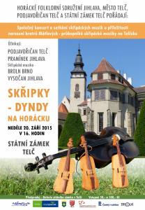 Plakát: Skřipky - Dyndy na Horácku