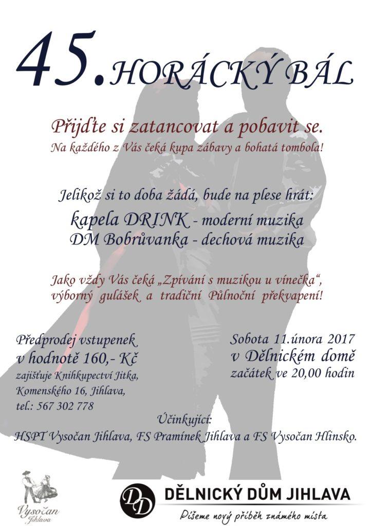 Horácký bál 2017, Jihlava