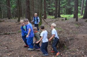 Příprava táboráku